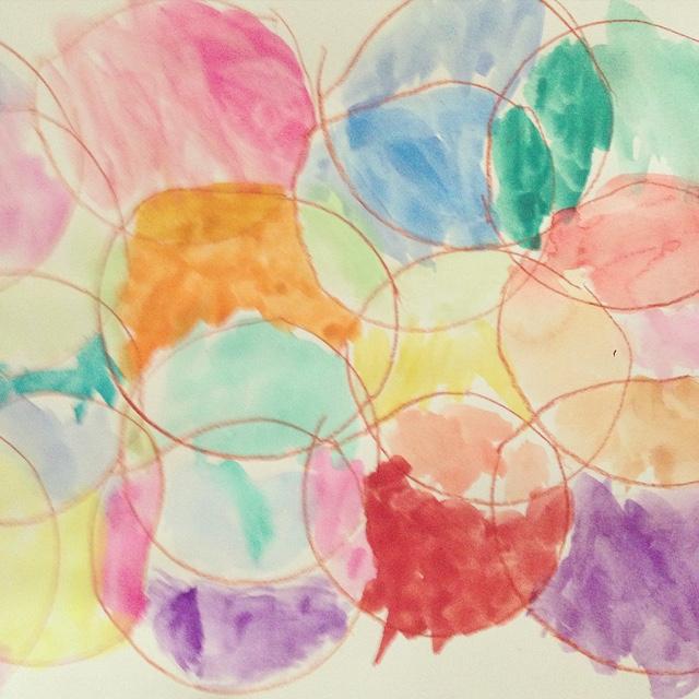 M Circle Painting