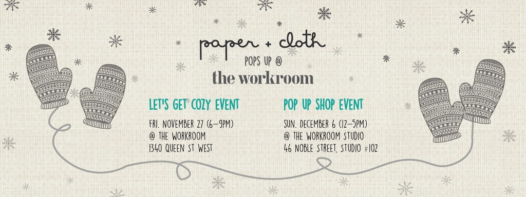 pop up shop workroom